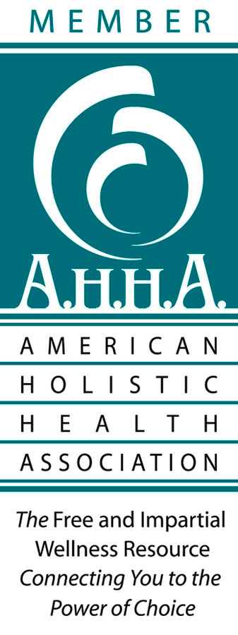 ORGANIZATIONAL & PRACTITIONER MEMBER OF THE AMERICAN HOLISTIC HEALTH ASSOCIATI